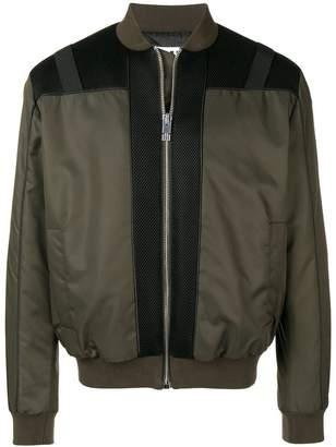 Les Hommes Urban mesh panels bomber jacket