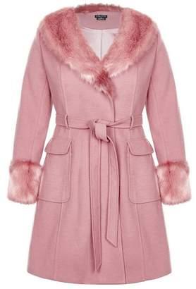 Evans City Chic Pink Make Me Blush Coat