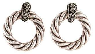 David Yurman Diamond Cable Classics Circle Earrings