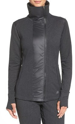 Women's New Balance 'Heat' Mock Neck Jacket $120 thestylecure.com