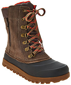 As Is BareTraps Suede Lace-up Water Repellant Outdoor Boots $56 thestylecure.com
