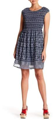 Max Studio Smocked Printed Dress