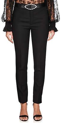 Saint Laurent Women's Virgin Wool Tailored Trousers - Black