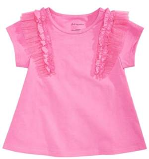 First Impressions Baby Girls Tulle Ruffle T-Shirt, Created for Macy's