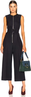 Victoria Beckham Sleeveless Cropped Jumpsuit