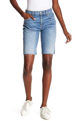 7 For All Mankind High Waist Denim Bermuda Shorts (Desert Oasis)