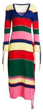 Rosie Assoulin Ottoman Stripe Knit Dress