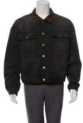 Yeezy Season 6 Flannel-Lined Denim Jacket