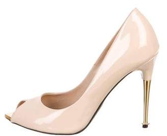 Tom Ford Patent Leather Peep-Toe Pumps