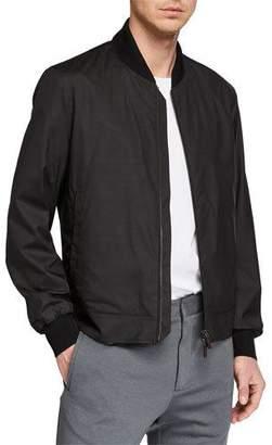 Ermenegildo Zegna Men's Wool-Blend Packable Bomber Jacket
