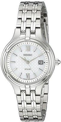 Seiko Women's SUT217 Ladies Dress Solar Analog Display Japanese Quartz Silver Watch $225 thestylecure.com