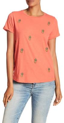 Lucky Brand Embroidered Pineapple Tee