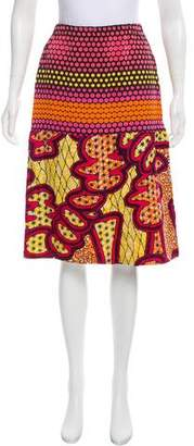 Marni Silk Knee-Length Skirt