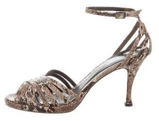 Via Spiga Animal Print Ankle Strap Sandals