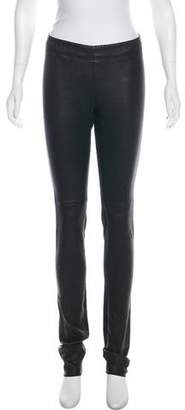Mid-rise leather pants Joseph pn6kQUkr