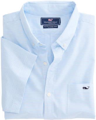 Vineyard Vines Short-Sleeve Beach Bungalow Slim Tucker Shirt