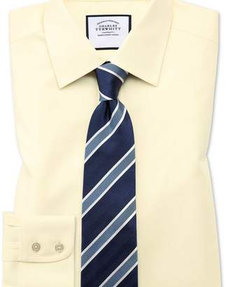 Charles Tyrwhitt Classic fit non-iron twill yellow shirt