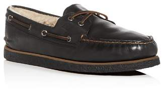 Sperry Men's Authentic Original Two Eye Leather & Shearling Boat Shoes