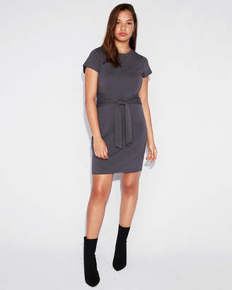 Express Tie Front T-Shirt Dress