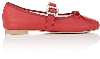Helena & Kristie Women's Lia Embellished-Buckle Leather Flats