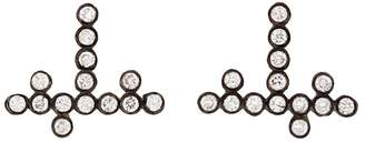 Yannis Sergakis Adornments Charnières Diamond Stud Earrings - Blackened Gold