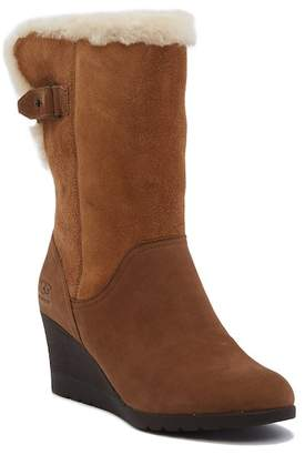 UGG Edelina UGGpure Leather & Suede Wedge Boot