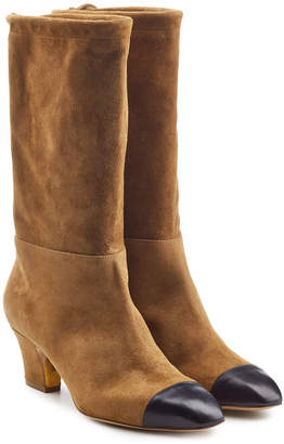 Rupert Sanderson Suede Boots with Leather Toes