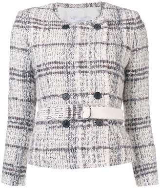 IRO belted tweed jacket