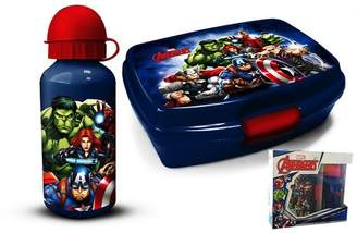 Marvel Avengers Lunch Box And Aluminium Water Bottle Set