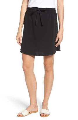 Caslon Off-Duty Tie Waist Miniskirt