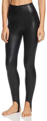 Commando Faux Leather Stirrup Leggings - 100% Exclusive
