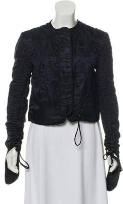 J.W.Anderson Cropped Ruched Satin-Twill Jacket w/ Tags