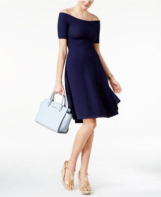 MICHAEL Michael Kors Textured Off-The-Shoulder Dress $175 thestylecure.com