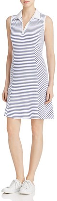 Three Dots Collared Stripe Tee Dress $98 thestylecure.com