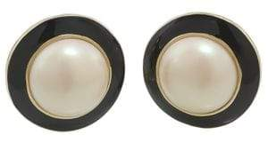 Carolee Optical Opposites Button Stud Earrings