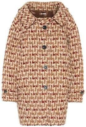 Miu Miu Tweed cocoon coat
