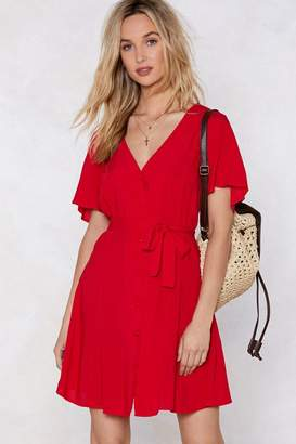 Nasty Gal Hit Refresh Fit & Flare Dress