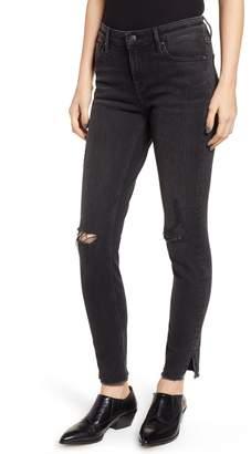 Vigoss Marley Studded Hem Skinny Jeans