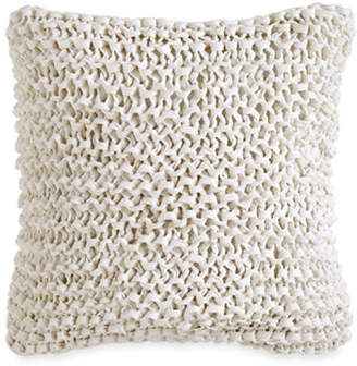DKNY City Pleat Chunky Ribbon Knit Cotton Pillow