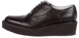 Celine Leather Platform Oxfords