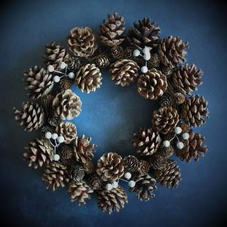 The Christmas Home Natural Cone Christmas Wreath