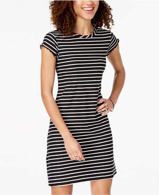 Ultra Flirt Juniors' Striped T-Shirt Dress