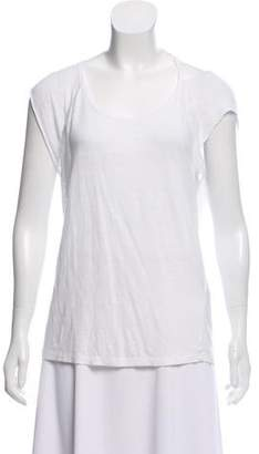 Closed Distressed Linen Top