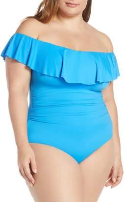 La Blanca Off the Shoulder One-Piece Swimsuit
