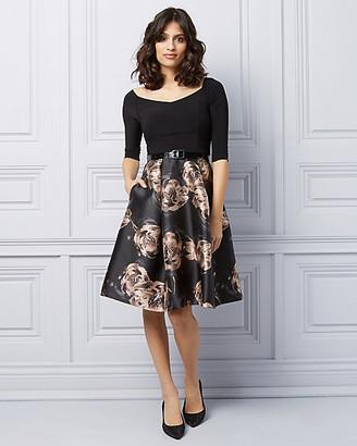 Le Château Floral Off-The-Shoulder Fit & Flare Cocktail Dress