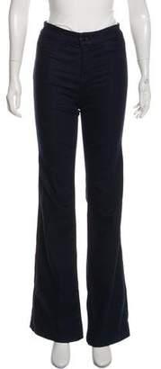 J Brand Mid-Rise Wide-Leg Jeans