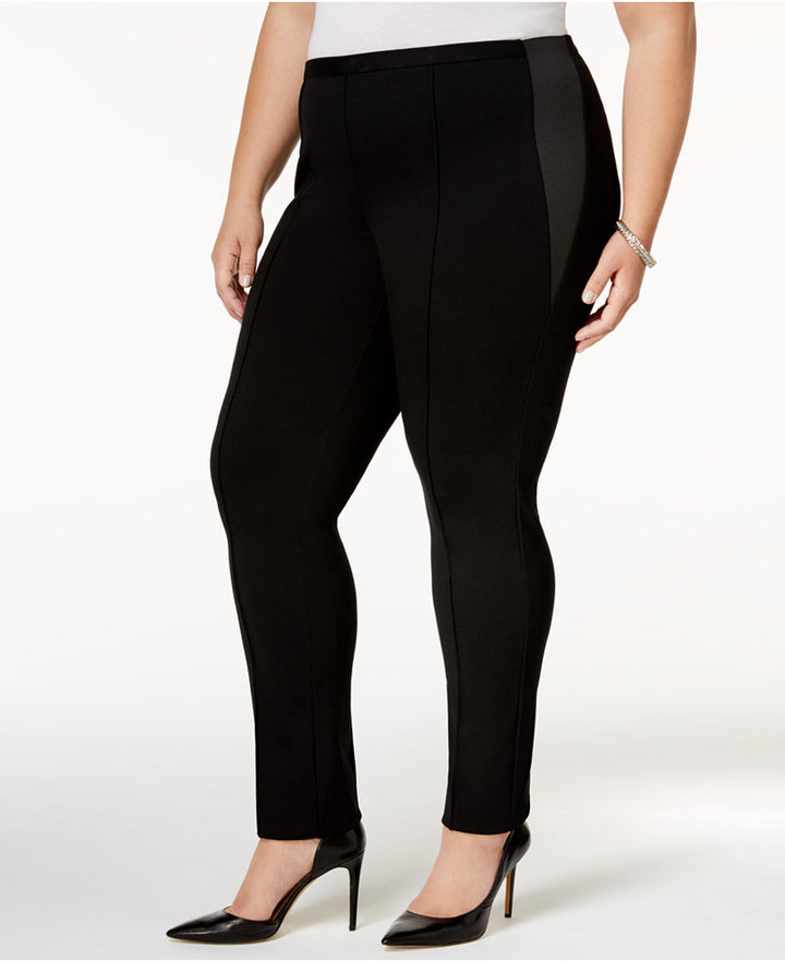 Alfani Alfani Plus Size Tummy-Control Skinny Pants, Only at Macy's