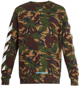 Off-White Camouflage-print cotton sweatshirt