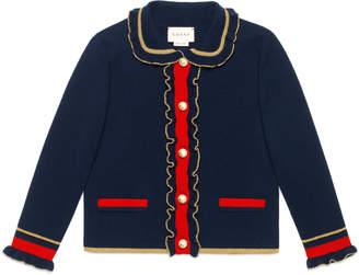 Children's wool jacket with lurex $620 thestylecure.com