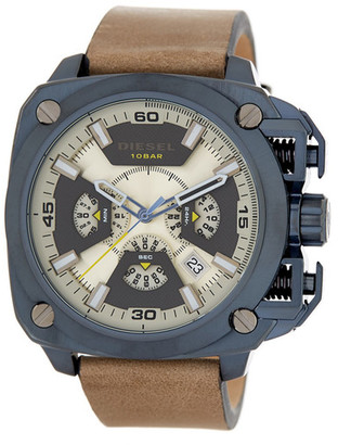 Diesel Men&s BAMF Leather Strap Watch $295 thestylecure.com